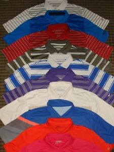 LOT 10 - NIKE GOLF TOUR PERFORMANCE DRI-FIT FIT-DRY POLY SS POLO SHIRTS SZ. L