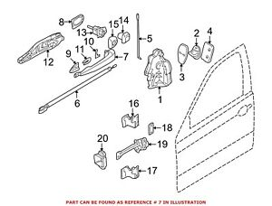 For BMW Genuine Exterior Door Handle Front Right Outer 51217002270