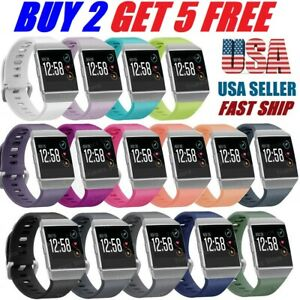 Replacement Silicone Rubber Classic Band Wristband Strap For Fitbit Ionic Watch