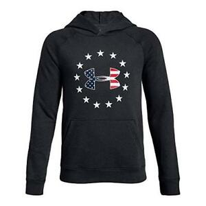 Under Armour Apparel Boys Freedom Logo Rival Hoodie- Pick SZColor.
