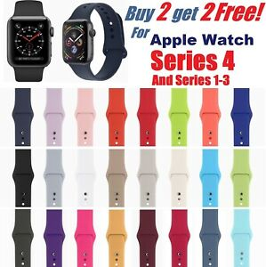 Silicone Band Strap For Apple Watch iWatch Sports Series 1234 38424044mm