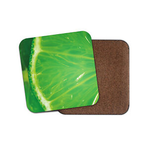 Juicy Green Lime Coaster Fruit Food Cocktail Summer Drinks Cool Gift #15011