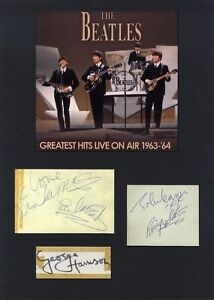 The Beatles AUTHENTIC autographs signed album pages mounted