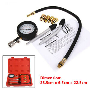 Pro Petrol Gas Engine Cylinder Compression Tester Gauge Kit Motor Auto Universal