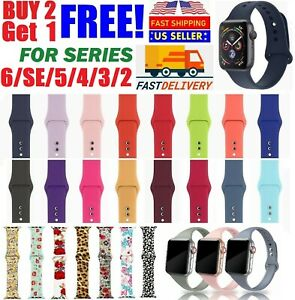 Silicone Nylon Sport Band Strap for Apple Watch Series 5 4 3 2 1 42 44mm 38 40mm $2.39