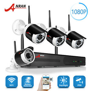ANRAN 1080P 4TB HDD Security Camera System Wireless Outdoor 8CH CCTV Waterproof