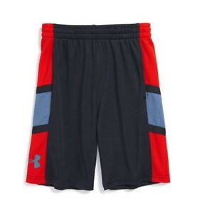NWT Toddler Boys UNDER ARMOUR UA Buzzer Beater Athletic Shorts Gray Red 4T