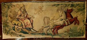 An Early Tapestry Panel with King and Horses