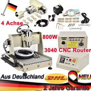 CNC 3040 Router 4 AXIS Engraver Milling Drilling Mahcine Cutter 3D Desktop WELL