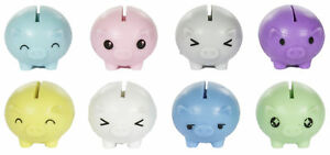 Party Favors Set Of 8 Assorted Colored Worlds Smallest Piggy Banks $7.29