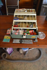 Vintage Loaded Tackle Box With a Good Variety of Tackle.