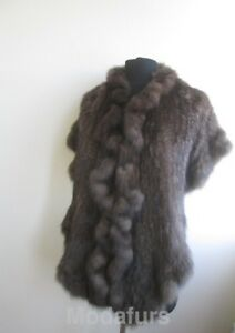 Women's Genuine Russian Sable Fur Knitted Stole Cape Shawl  SALE Ladies