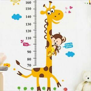 Removable Height Chart Measure Wall Sticker Decal for Kid Baby Room Giraffe SA