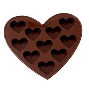 Silicone 10 Heart Cake Chocolate Cookie Baking Mould Mold Jelly Baking Tray Shan $2.11