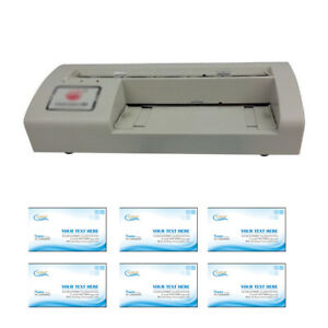 Business Card Slitter Cutter 90*54MM Letter Size Paper with Template New!