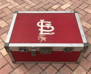 Vintage J.H. Sessions and Son St Louis Cardinals Game Used Large Equipment Trunk