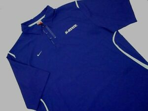 Mens XL Kansas st state Wildcats Coaches Polo Shirt purple Nike Fit Dry poly