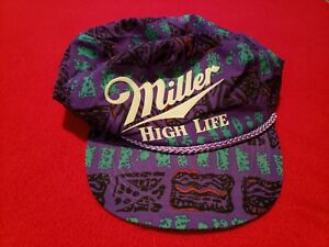 Rare vintage Miller high life hat cap tropical licensed snapback trucker beer