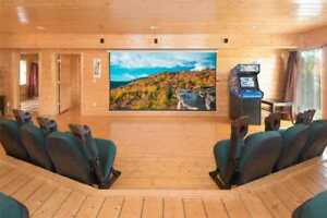 2 Nights: Home Theater Lodge Cabin by RedAwning ~ RA175414