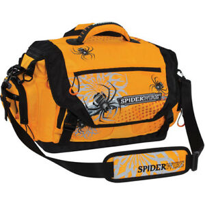Spiderwire Soft-Sided Fishing Tackle Bag with 4 Large Utility Lure Box Storage