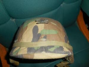 US Army Helmet WWoodland Camo Cover Pappas Collection Made With Kevlar