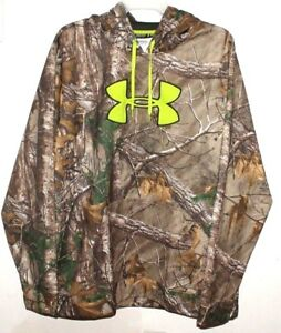 UNDER ARMOUR  REALTREE SWEAT SHIRT CAMO HOODIE 3XL MEN SCENT CONTROL XXXL