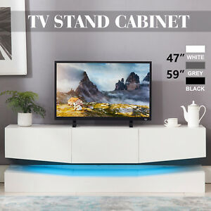 59''47'' Floating LED TV Stand Wall Mount Console Furniture w 3 Large Drawers