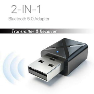 2 in 1 USB Bluetooth 5.0 Transmitter Receiver AUX Audio Adapter for TVPCCar