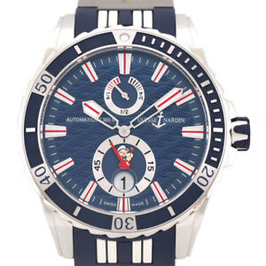 Free Shipping Pre-owned ULYSSE NARDIN Marine Diver 263-10-393-POP Small Second