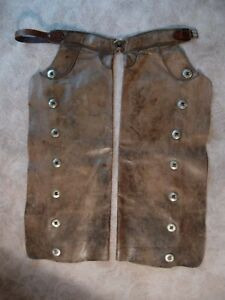 HAMLEY - COWBOY CHAPS -  Pendleton Oregon - C. W. WARREN 1934 DEER LODGE MONTANA
