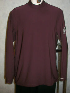 Nike Golf dry fit pullover polo shirt burgundy wine M
