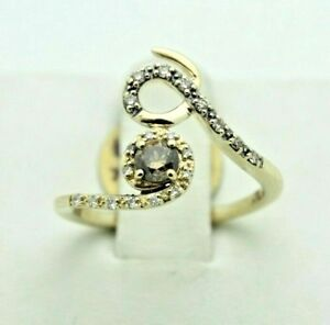 Le Vian Chocolate and White Diamond 14k Yellow Gold Ring 13 Carat TDW