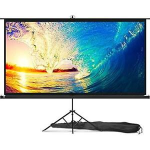 Projector Projection Screens Screen With Stand 100 Inch - Indoor Outdoor For 169