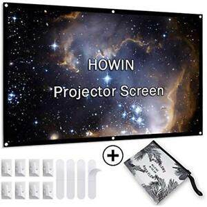 84 Projection Screens Inch Projector Screen 4k 169 Anti-Crease Portable Indoor
