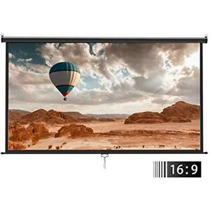 Manual Projection Screens Projector Pull Down - 100 Inch 169 HD Movie Home With