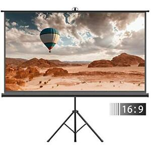 Projector Projection Screens Screen With Tripod Stand - 100 Inch 169 HD Portable