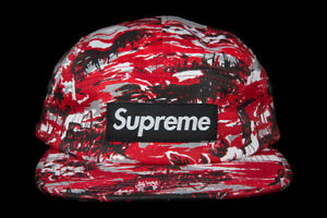 RARE SUPREME TROPICAL CAMP CAP RED SS10 2010 HAT DS CDG PCL BOX LOGO PALACE