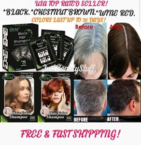 5 PCS INSTANT BLACK- BROWN INSTANT HAIR DYE SHAMPOO- FAST HAIR COLORING