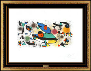 Joan Miro Original Color Lithograph Hand Signed Sculptures II Large Abstract Art