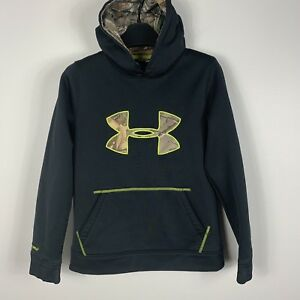 Under Armour Youth Boys Athletic Hooded Sweatshirt Hoodie Sz Medium Camouflage