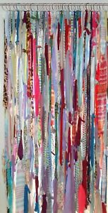 Handmade Colorful Gypsy Boho Hippie Window Rag & Bead Curtains Door Cover 6ft