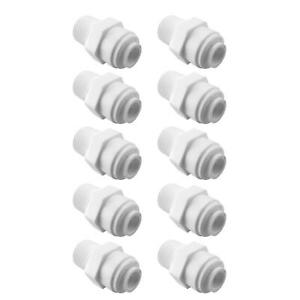 10-Pack Male Connector 1/4