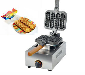 Commercial Non-stick LPG Gas Lolly Waffle Maker Baking Machine four pcstime