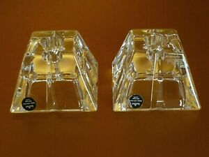 Set of 2 Rosenthal 24% Lead Crystal Tapered Glass Multi Candle Type Holders