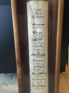 Cricket Bat Signed - World's Top 10 Run Scorers (Collector's Item)