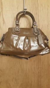 Coach Patent leather Ashley handbag purse tote 21042E