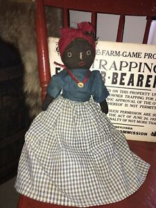 Early Cloth Primitive Folk Art Rag Doll... By Rural Renderings
