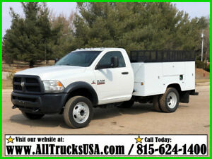 2013 Dodge 5500HD REGULAR CAB 6.7 CUMMINS DIESEL 9' BED SERVICE UTILITY TRUCK