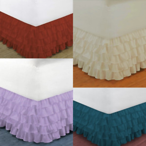 1PC MODERN SOLID DUST MULTILAYERED BED DRESSING BEDDING SKIRT 18