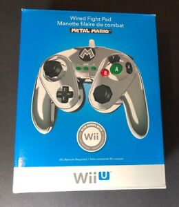 Super Smash Bros Wired Fight Pad [ Metal Mario Edition ] ( for Wii U